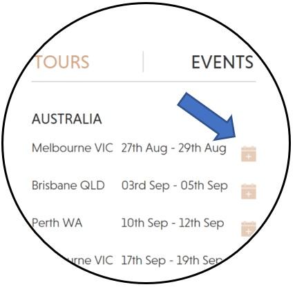 Client Guide Tour Saving Calendar