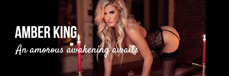 Amber King Melbourne escort banner blonde
