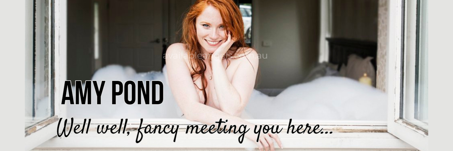 Mebourne escort banner Amy Pond red head in bath
