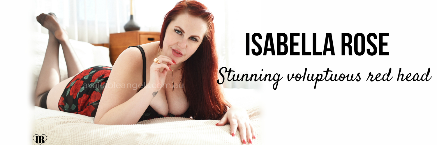 Brisbane escort banner Isabella Rose red head
