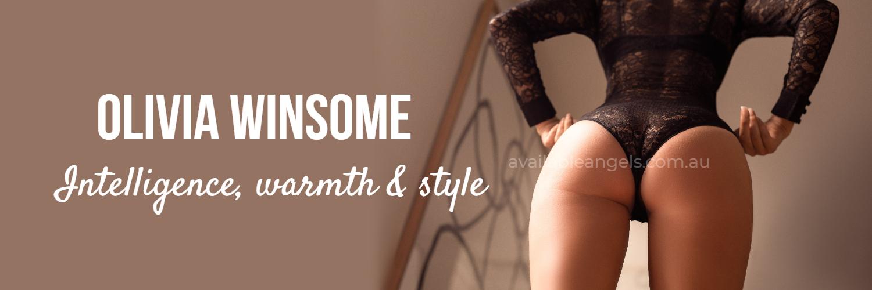 Melbourne escort banner olivia winsome black lingerie